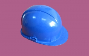 Каска защитная синяя