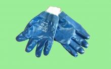 Перчатки х/б с нитриловым покрытием, полный облив, манжет