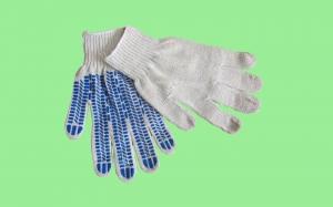 Перчатки хб с ПВХ протектор